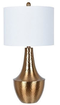 Crestview Copper Look Table Lamp with White Shade