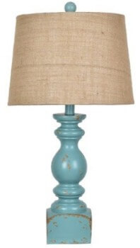 Crestview Distressed Blue Table Lamp