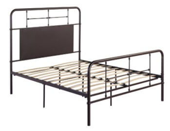 Emerald Fairfield Brown Metal King Platform Bed