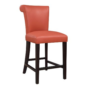 Emerald 24-Inch Briar Orange Barstools (set of 2)