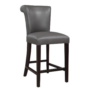 Emerald 24-Inch Briar Grey Barstools (set of 2)