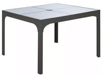 Emerald Outdoor 42-Inch Glass Top Dining Table