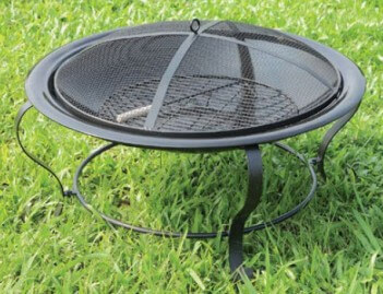 Furniture of America Ammon Metal Fire Pit
