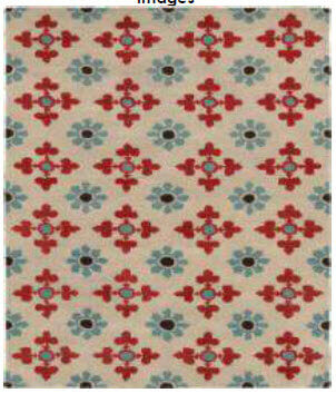 Rizz Coral, Teal & Ivory Patterned 5x8 Handtufted Wool Area Rug