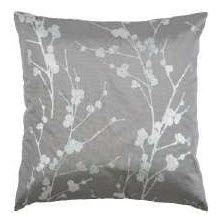 Rizzy Silver & Ivory Branch Throw Pillows (set of 2)