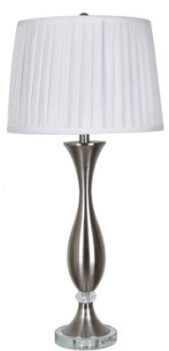 Crestview Brushed Nickel & Crystal Table Lamp