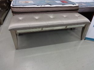 Pulaski Ailey Bench with Mirrored Accents