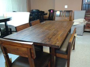 Alba Hardwood Dining Set with 4 Chairs & 1 Bench