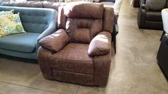 Homelegance Amite Dark Brown Polished Microsuede Recliner