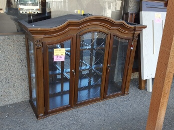 Homelegance Arched Cherry Finish China Hutch Top with Interior Lighting