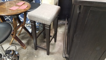 Modus Arezzo Café Barstool with Charcoal Upholstery