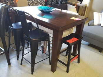Ashley Burnished Espresso Larchmont Counter-Height Dining Table (no leaf)
