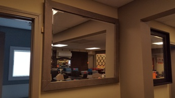 Light Mocha Hardwood Finish Mirror