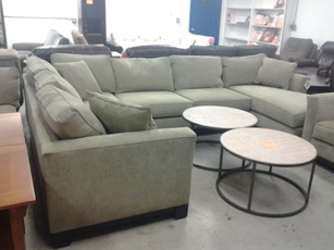 Jonathan Louis Sage Sectional with Chaise