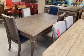 Modus Belize Distressed Pine Dining Table with Leaf