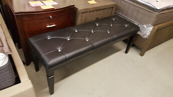 Homelegance Black Bench with Jewel Accents