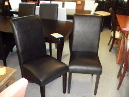 Modus Cosmo Black Leatherette Dining Chairs (set of 2)