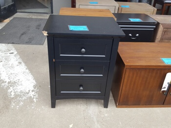 Modus Paragon Black 2-Drawer Nightstand (blemish)