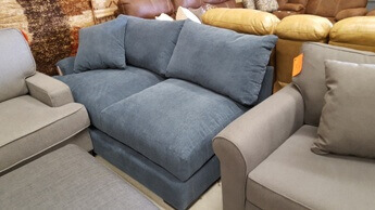 Jonathan Louis Blue One-Arm Sofa