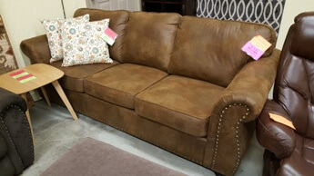 Homelegance Corvallis Bomber Jacket Sofa with Nailhead Trim