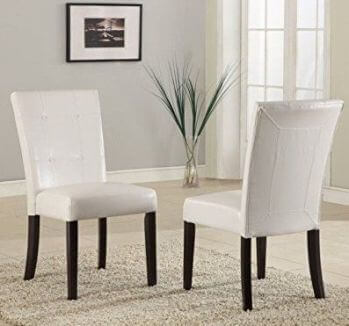 Modus Bossa White Faux Leather Dining Chair