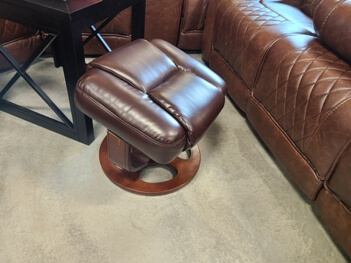 Coaster Dark Brown Ottoman with Wood Base