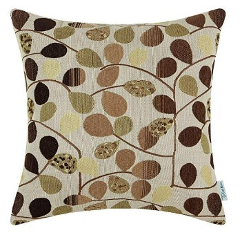 Brown Leaves Throw Pillows (set of 2)