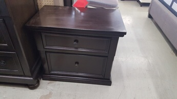 Homelegance Cappuccino Finish Nightstand with Wide Trim Accents