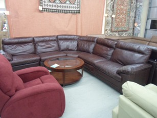 Natuzzi Carmelo Chocolate Italian Leather 5-Piece Power Reclining Sectional