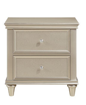 Homelegance Celandine Silver 2-Drawer Nightstand