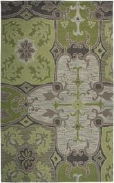 Rizzy Charcoal & Sage Medallions 5x8 Area Rug