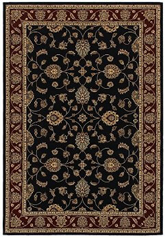 Rizzy Chateau Black & Red 5-3x7-7 Area Rug