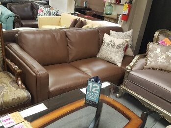 Chateau Dax Brown Leather One-Arm Sofa