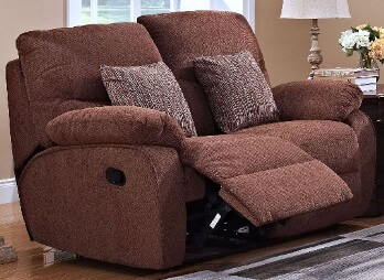 New Classic Cheshire Fudge Reclining Loveseat