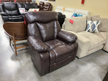 Coaster Dark Brown Faux Leather Power Recliner