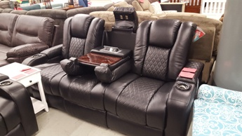 Coaster Delangelo Power Reclining Sofa with Drop-Down & Adjustable Headrests