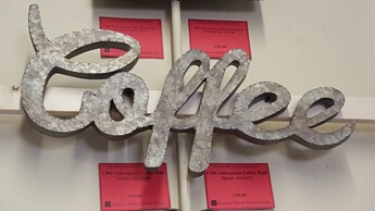 CBK Galvanized Coffee Wall Decor