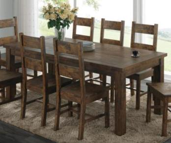 Coaster Coleman Hardwood Dining Set with 4 Chairs