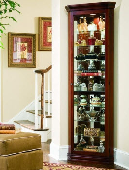 Cambridge Cherry Finish Corner Curio