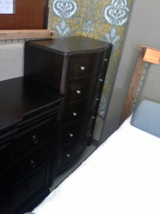 Legacy Dark Cappuccino Curved-Front 5-Drawer Chest