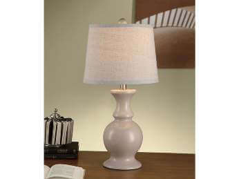Crestview Sand Dune Taupe Table Lamp with Linen Shade