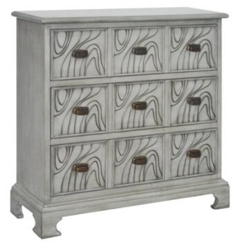 Crestview Wavy 3-Drawer Console Chest