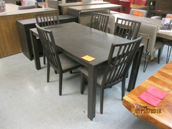 Modus Elba Walnut Dining Set with 5 Chairs & 1 Leaf