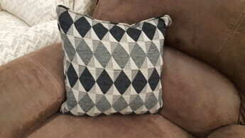 Homelegance Charcoal & Black Diamonds Throw Pillow