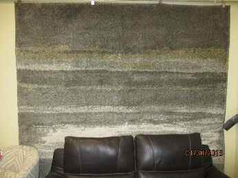 Karastan Abstract Charcoal, Silver, Gold & Ivory 8x11 Area Rug