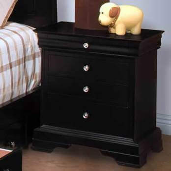 New Classics Belle Rose Black Cherry Finish 4-Drawer Nightstand