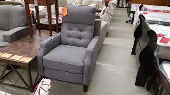 Synergy Elora Silver Fabric Recliner