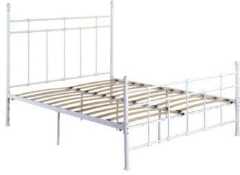 Emerald Fairfield White Metal King Platform Bed