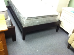 Simple Dark Cappuccino Finish Twin Platform Bed