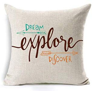 Dream, Explore, Discover Throw Pillow
